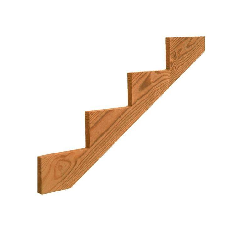 Best 4 Step Pressure Treated Cedar Tone Pine Stair Stringer 640 x 480