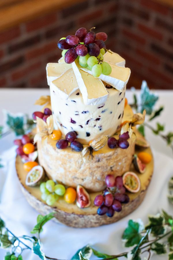 cheese wedding cake uk wedding Sandhole Oak Barn Wedding by Neil Redfern Photography - Cheese?!