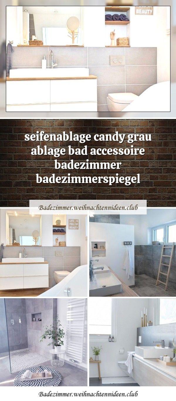 seifenablage candy grau ablage bad accessoire badezimmer