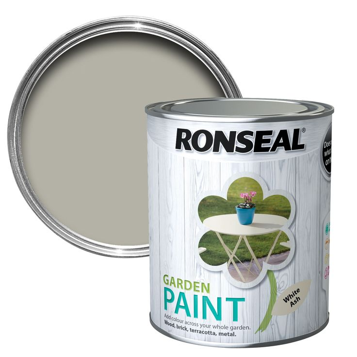 Ronseal White Ash Garden Paint 750ml | Departments | DIY at B&Q