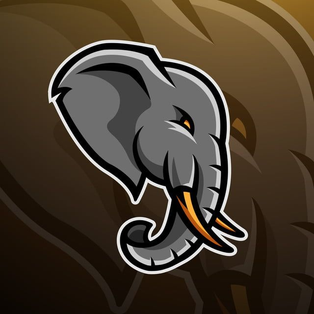 Elephant Head Logo Gaming Esport Sport Elephant Illustration Png And Vector With Transparent Background For Free Download Logo Design Art Elephant Logo Elephant Illustration