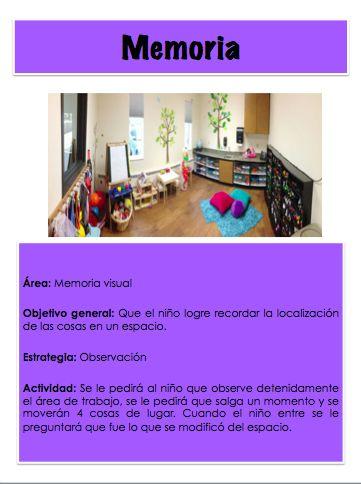 Actividad para trabajar la memoria visual