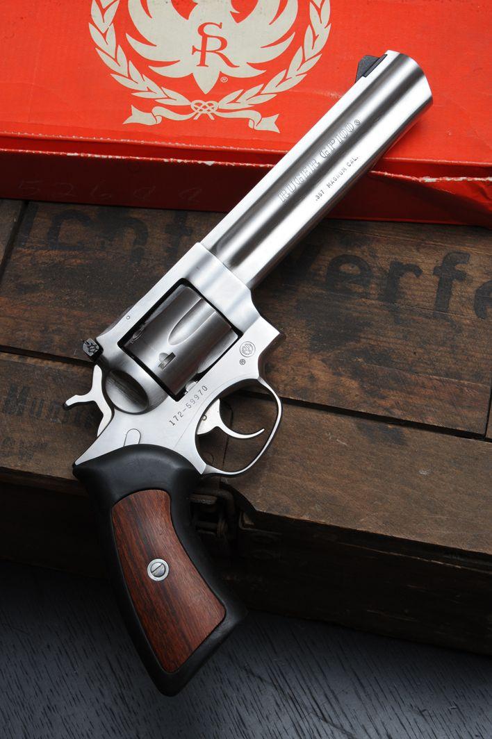 Sturm Ruger GP100 .357 magnum/6 shot DA/SA revolver.. I need one of these.