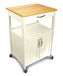 @Overstock.com - Kitchen Storage Trolley - Add organization to your space with this wooden kitchen trolley. Featuring an enclosed space, a drawer, and two shelves, this trolley on sturdy caster wheels can help to simplify your life by providing extra storage and counter space to your kitchen.  http://www.overstock.com/Home-Garden/Kitchen-Storage-Trolley/2887085/product.html?CID=214117 Add to cart to see special price