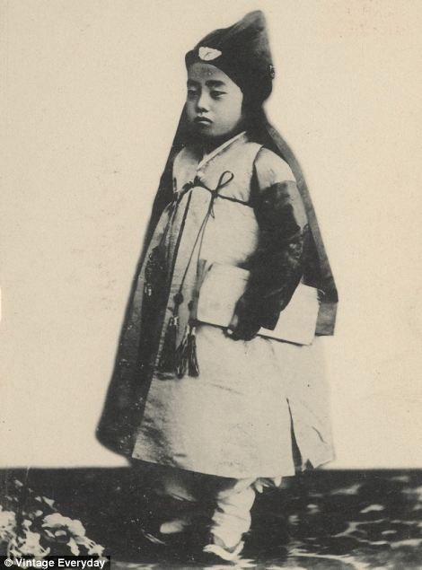 Traditional dress: A young child,