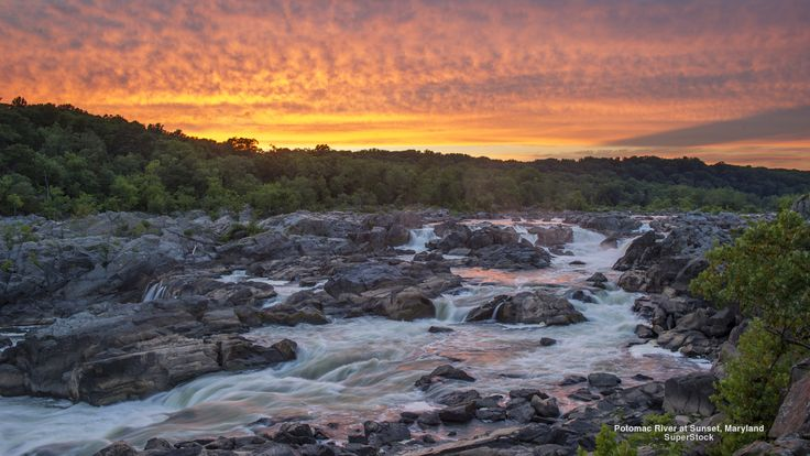 Potomac River at Sunset, Maryland