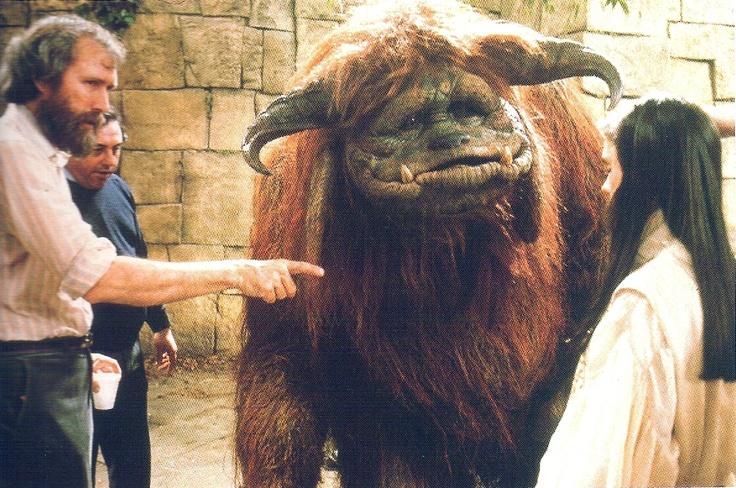 Jim Henson on Labyrinth set.