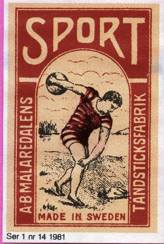 #Sport #labels #matches #tulitikkuetiketit #etiketit #Sweden