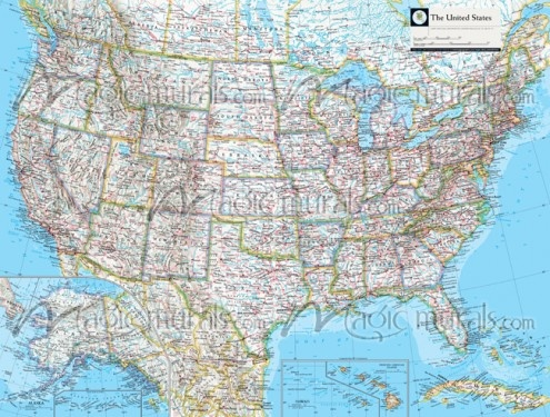 NGS Atlas of the World Eighth Ed. political map of the United States. Artwork. National Geographic Collection / NG Maps