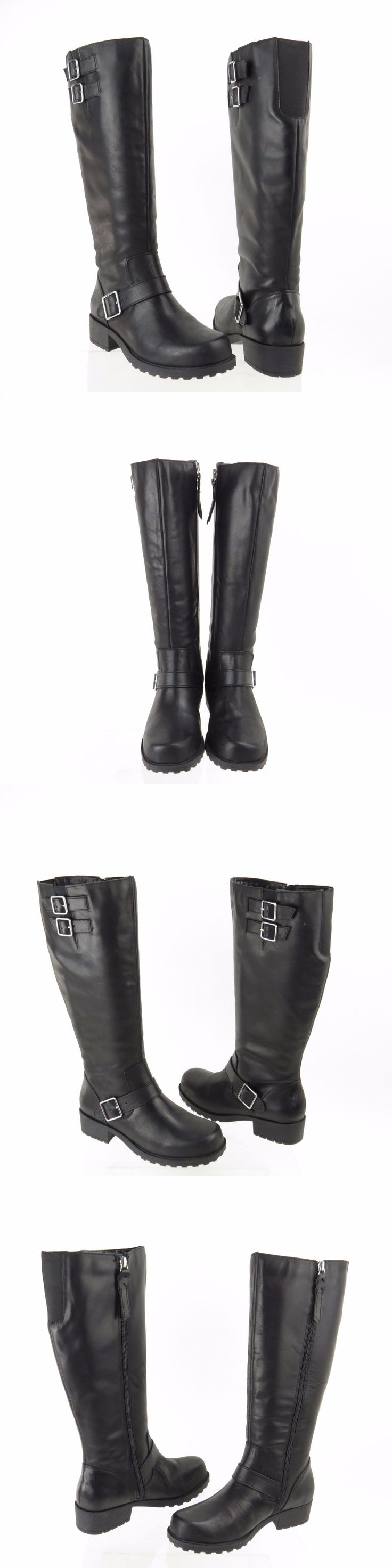 Women Shoes: Womens Softwalk Bellrider Shoes Black Leather Motorcycle Boots Size 5.5 M New! BUY IT NOW ONLY: $53.99