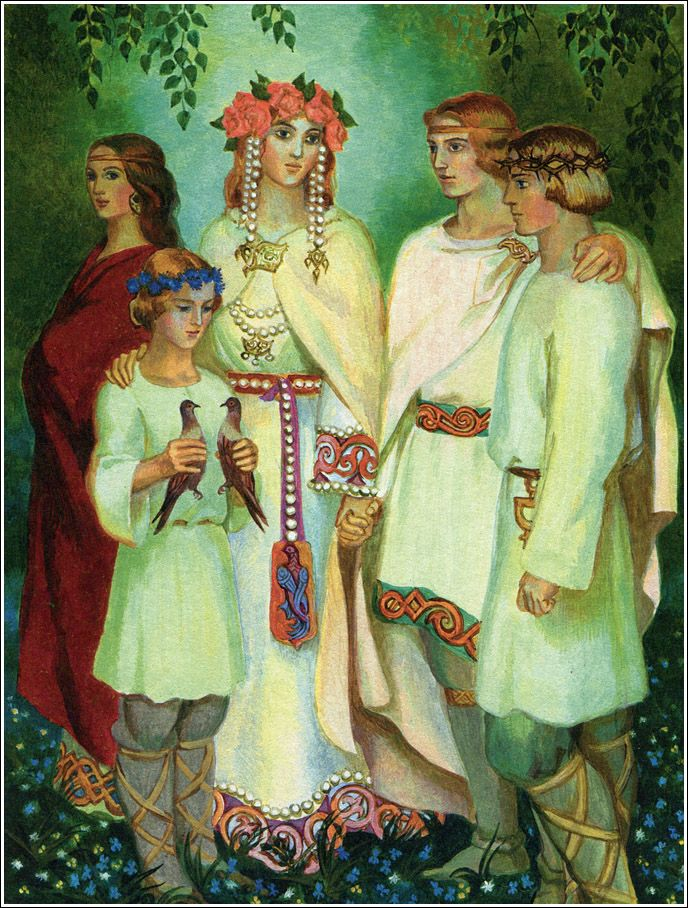 Картинка славянской семьи
