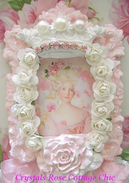 Shabby Chic Country Romantic Frame.Idea For Pretty And Personalized Picture Frame Paint Old