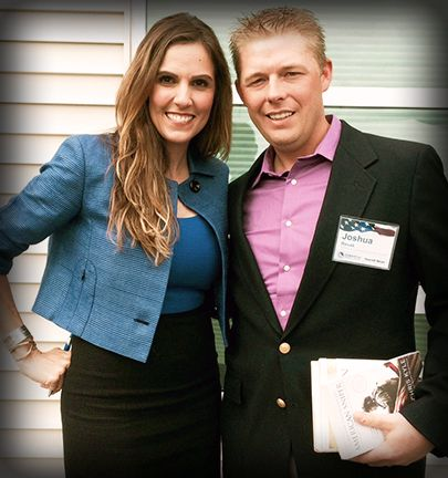 Tara Kyle & Purple Heard Recipient Josh Revak supporting Wounded Warrior Foundation oilfieldlodging.com
