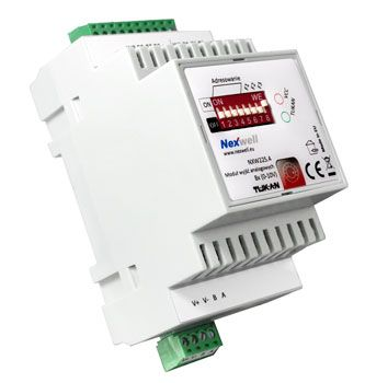 NXW225.4 - ANALOG OUTPUT MODULE 8X (0-10V) TUKAN XT DIN - Module having a 8 independent output in the range 0-10V. It is used mainly in devices adapted to this type of control, such as heat recovery units, air conditioners, throttles or lighting