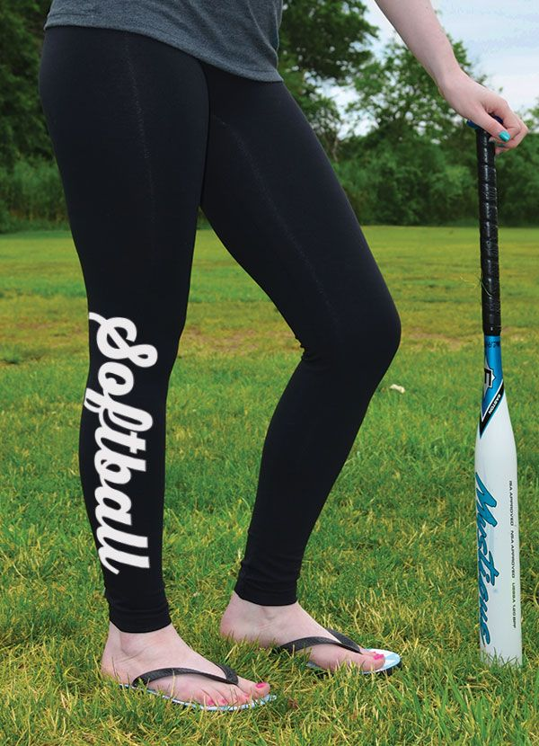 Softball Leggings are ideal for post-practice relaxation at home or wear around town! Check out more of our exclusive softball designs.