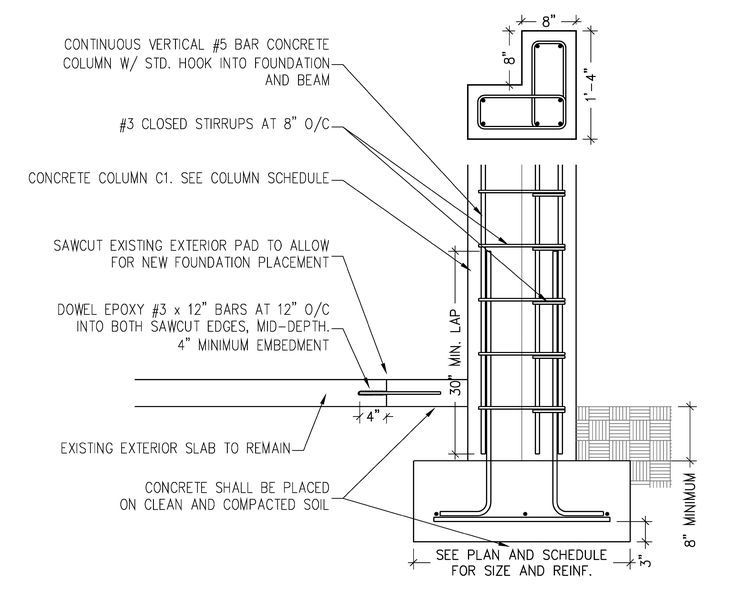 column footing construction - Google Search