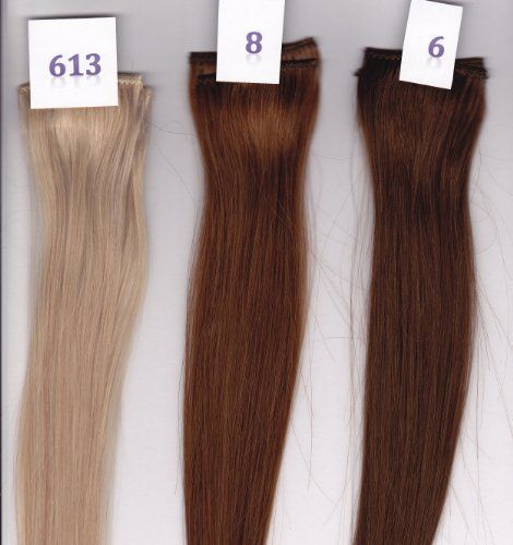 "14"" Remy 100% Human Hair Clip On In Extension 6"" Wide Piece Color 613 Bright Blonde by Aramas. $9.99. 14"" Remy Silky Straight. Ready To Wear, Clips in a few minutes. For any Occasion or Everyday Use. 100% Human Hair Clip In Extensions. 100% Human Hair Clip In Extensions, 14"" Length, 6"" Wide Piece, add color or volume to your hair.  Remy Silky Straight  Clip in takes just a few minutes, Fast and quick way to get fuller hair or add color for any occasion, or everyday use.  You ..."