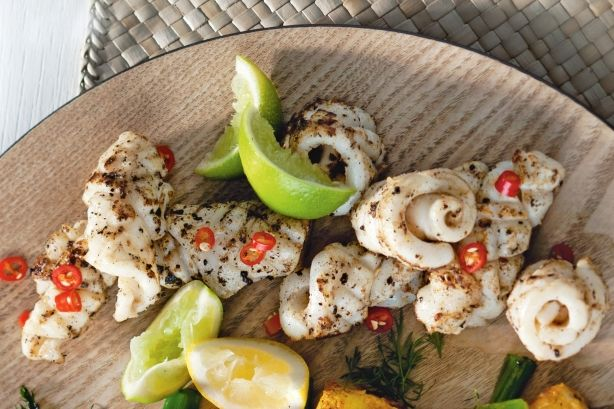 Salt and pepper squid is a staple of any seafood platter. For added flavour, cook these on the barbecue.