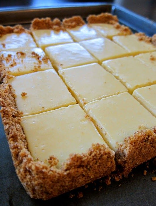 Creamy Lime Squares - The squares are creamy and sweet but also tart at the same time – and the serving size just right!