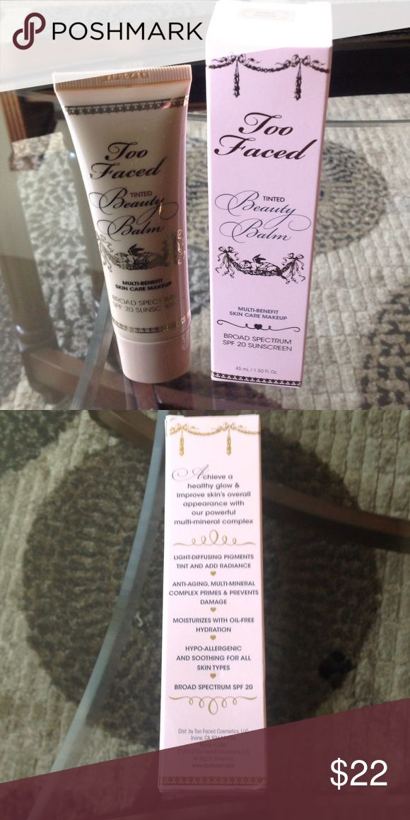 "NEW! AUTHENTIC TOO FACED BEAUTY BALM BNIB! NEVER EVEN OPENED! EXCELLENT NEW CONDITION! ""NUDE GLOW"" Too Faced Makeup"