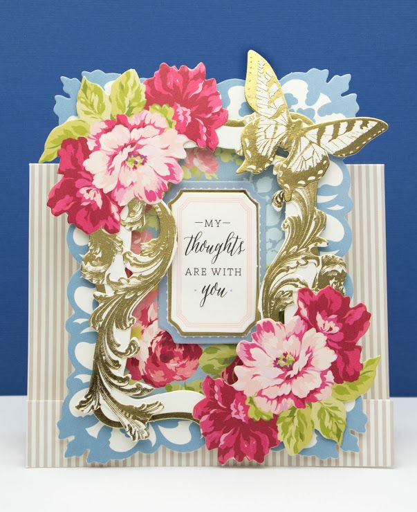 The Paper Boutique: Sympathy Card Using Anna Griffin Window Frame Card...