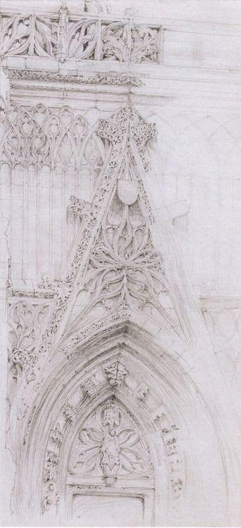 Southwest Porch of St. Wulfran's, Abbeville 1848  John Ruskin