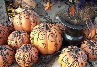 Pumpkin decorating idea. . . STUDS!
