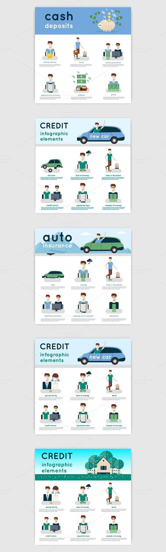 Applying for a loan.. Business Infographic. $7.00