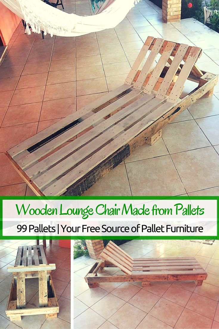 Diy outdoor patio furniture from pallets 99 pallets - Lounge Chairs Made From Pallets