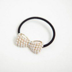 $2.04 Chic Beaded Bowknot Embellished Elastic Hair Band For Women