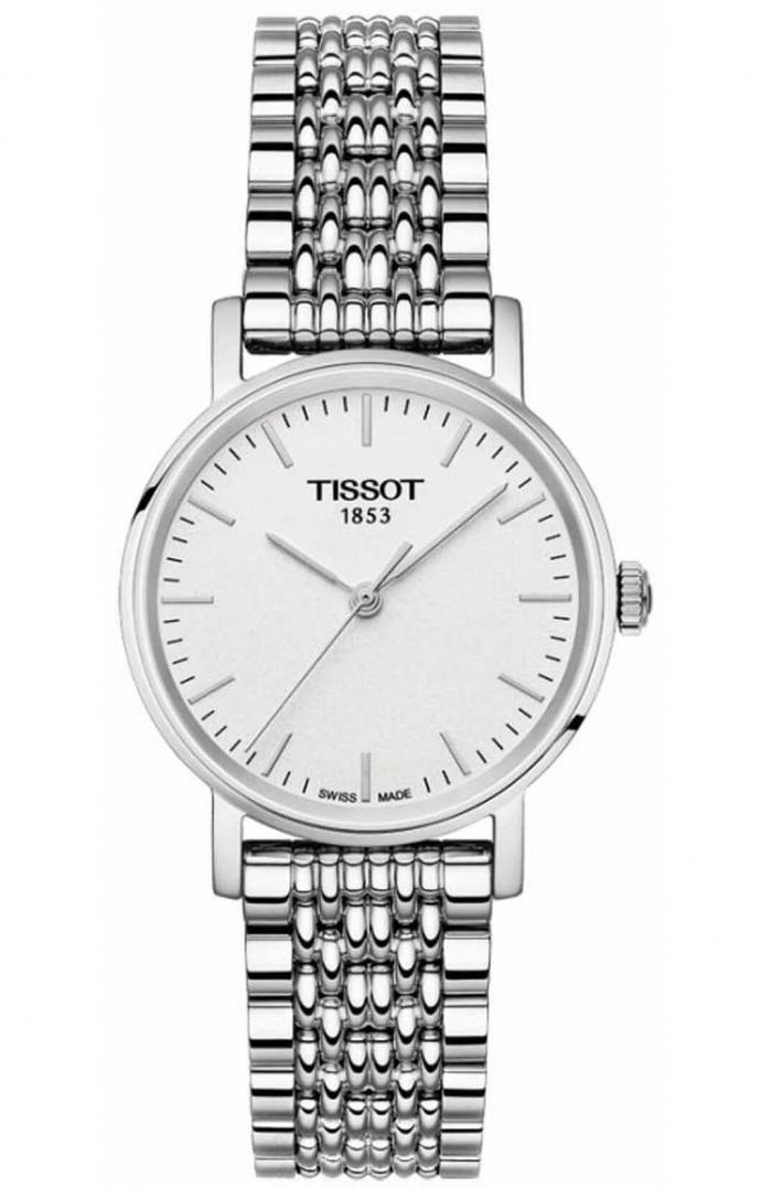 Ceas de dama Tissot T1092101103100 din otel inoxidabil cu mecanism de tip quartz si dispay analog. Ceasul are geam din safir rezistent la zgarieturi si functii precum ora, minut si secunda. Carcasa este rotunda iar bratara se inchide cu clips.