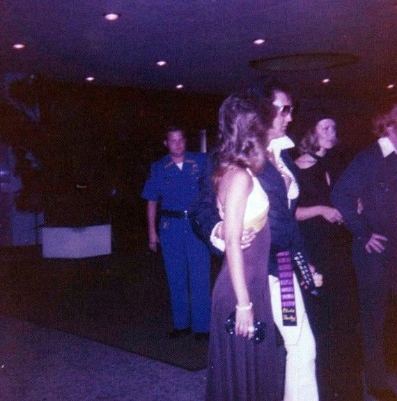 Elvis - Out on the town in Las Vegas with Sheila Ryan, September 1974