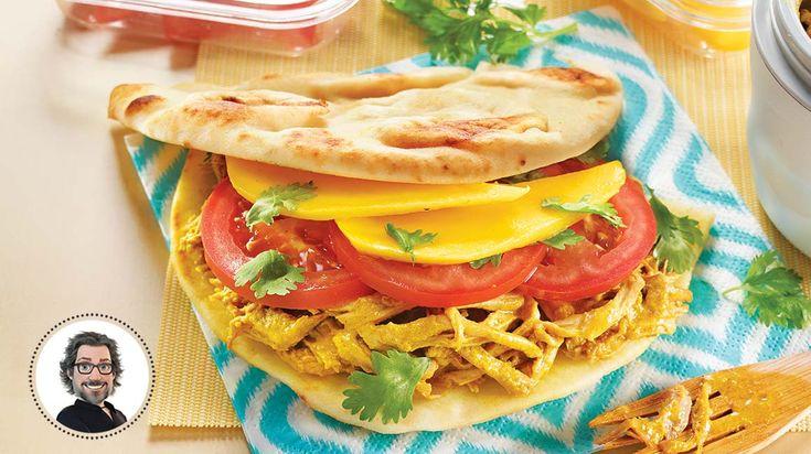 Sandwichs naans au porc effiloché et aux saveurs malaisiennes #IGA #Recettes #Sandwich