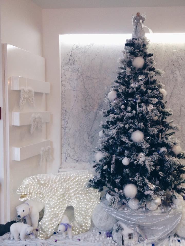 Our Christmas tree :) #hotelluxesplit #hotel #luxe #boutique #design #split #croatia #travel #traveling #explore #christmas #tree #polar #bear