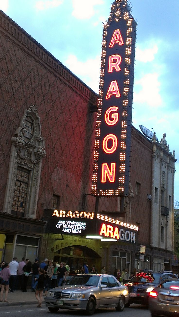 Aragon Ballroom, Uptown, Chicago. My Mom and Step-Dad and my husband's parents met at the Aragon Ballroom.  My high school boyfriend and I danced there twice: once for a military ball and then for a senior prom.  It was very pretty inside.