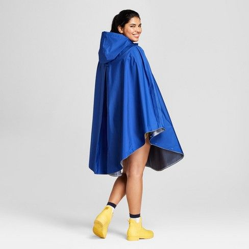 49bdbaee12c  30 Hunter for Target Adult Waterproof Packable Poncho - Blue   Target