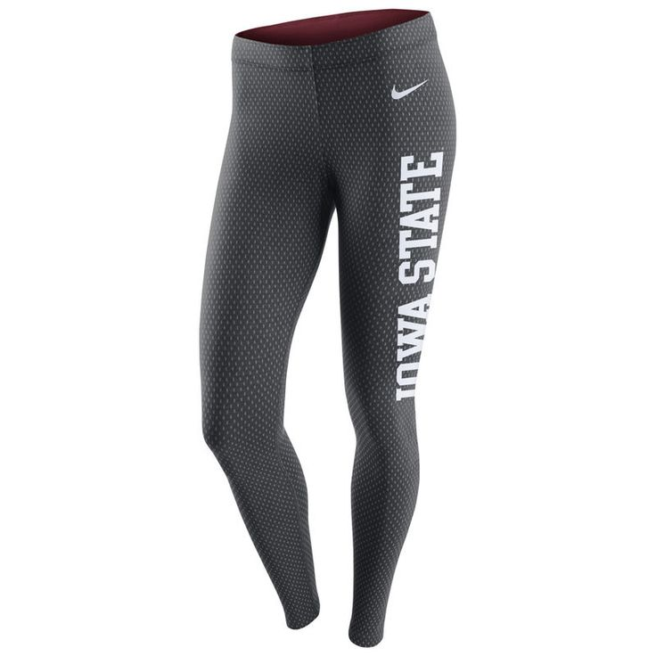 Iowa State Cyclones Nike Women's Tailgate Leg-A-See Leggings - Charcoal