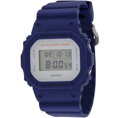 Casio Mens G-Force Military Concept Black Digital Watch DW5600MS-2CR, Blue