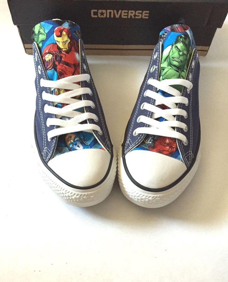 Avengers Converse Shoes, Men's Women's Avengers Converse Shoes, Unisex Avengers Shoes, Iron Man Hawk Hulk Thor Shoes, Marvel Shoes by ShopWildRose on Etsy https://www.etsy.com/listing/238681849/avengers-converse-shoes-mens-womens