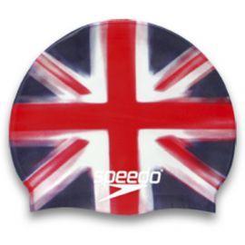Speedo GB Flag Silicone Swim Cap   UK Flag Swim Caps