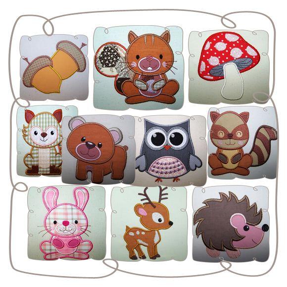 Woodlands Critter Set: Embroidershoppe