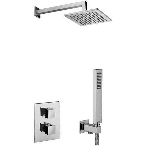 KIT COMPLET POUR LA DOUCHE TERMOSTATIQUE PAFFONI LEVEL KITLEQ518CR/M - RUB11466 - Plomberie sanitaire chauffage