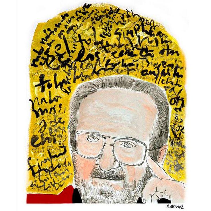 José Donoso *Ilustración de Rodrigo Alvarez Abel vía Me gusta leer