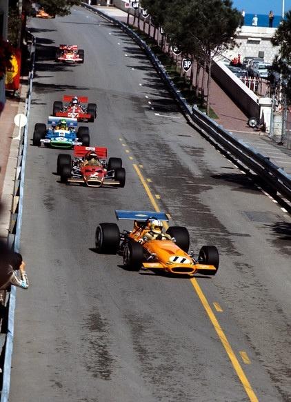 Hulme, Rindt, Pescarolo and Peterson - Monaco 1970