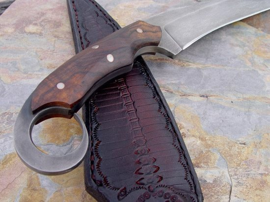 Detail of karambit handle by Dervish Knives
