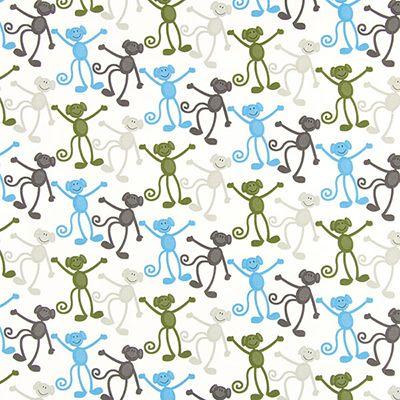Cotton Monkey Dance 2 - Bomuld - uldhvid