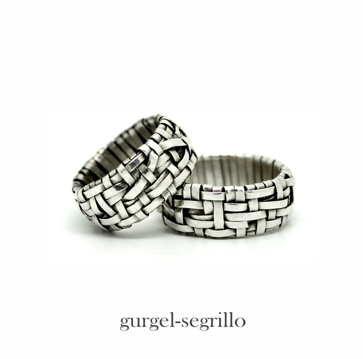 woven series partnership rings handcrafted in silver by gurgel-segrillo