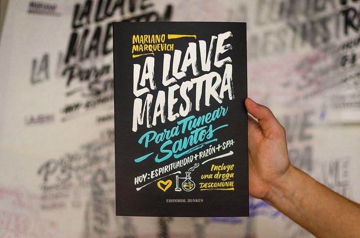 "Brush lettering and book cover design for Mariano Marquevich's ""La Llave Maestra"" new book."