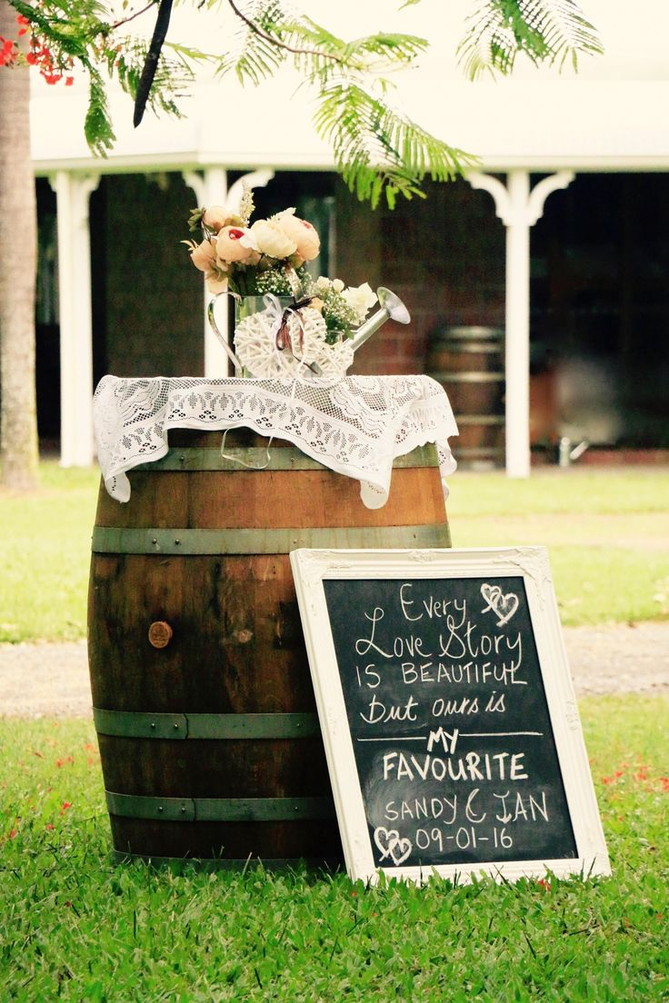 Wine barrel decorations
