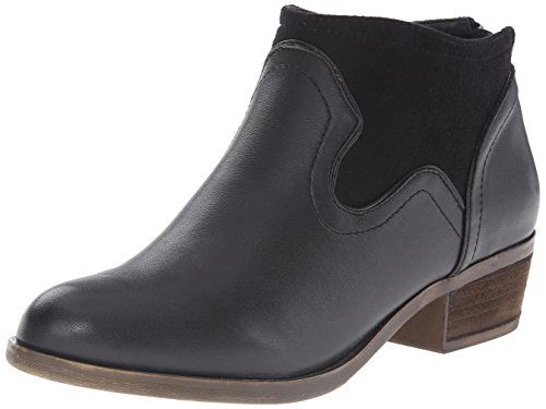 Kensie Women's Gabor Boot, Black, 7.5 M US. Western-style ankle boot with stacked heel and rear zip.